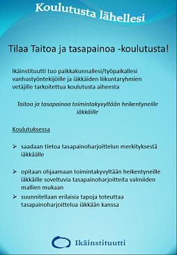 Taitoa_ja_tasapainoa_-koulutus