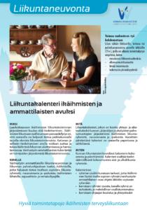 Liikuntakalenteri ikäihmisten ja ammattilaisten avuksi
