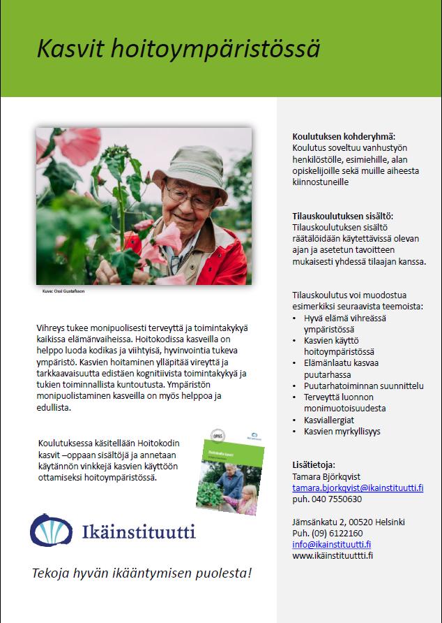 kasvit hoitoympäristössä