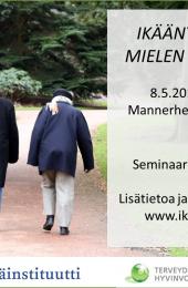 Ikääntyminen ja mielen hyvinvointi -seminaari 8.5.2019