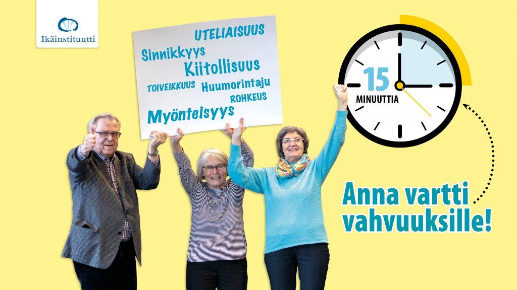 Vartti vahvuuksille-kampanja jatkuu 17.8. – nyt etänä!