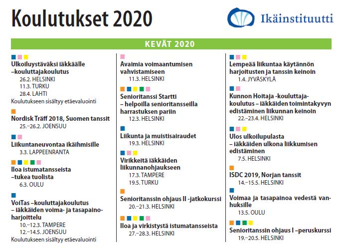 Koulutuskalenteri 2020.