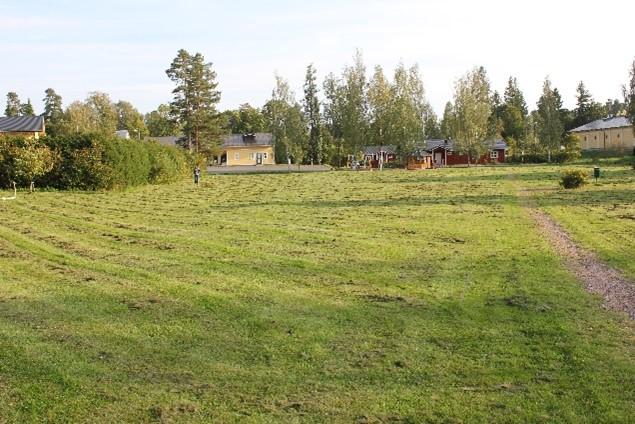 Lukkarinpuiston ruohokenttä.